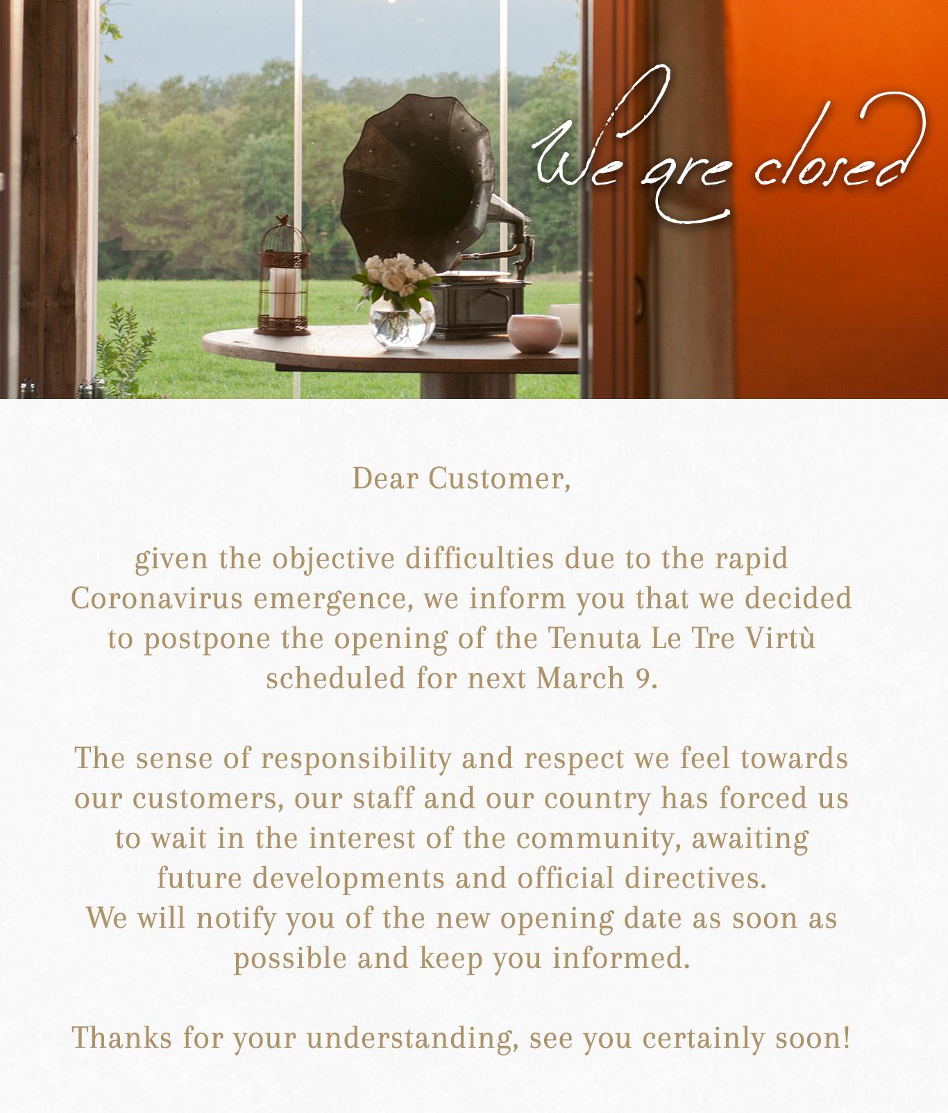 Reopening postponed